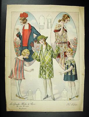 Elegant with a hat Fashion antique Fashion 1930 poster poster; 34cm