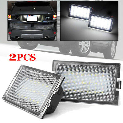 1 Pair LED Number License Plate Light Lamp Fit For Land Rover Discovery LR3 LR4