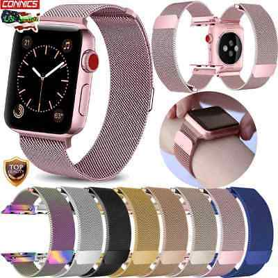 For Apple Watch Series 4 40MM 44MM Magnetic Milanese Loop Wristwatch Bands Strap