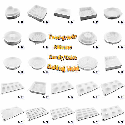 Kinds 3D DIY Silicone Mousse Cake Mold Tool Fondant Cake Decorating Baking Mould