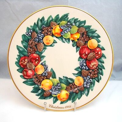 Lenox COLONIAL CHRISTMAS WREATH 1988 Delaware 8th Colony Collector Plate 10 5/8""