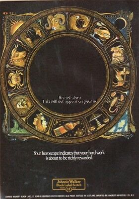 Johnnie Walker Black Label Scotch horoscope 1978 vintage print ad