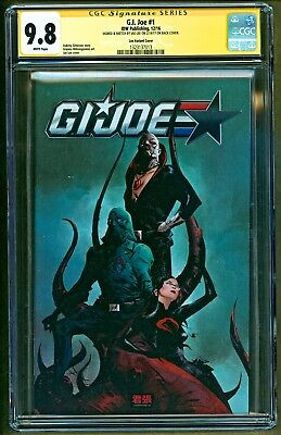 GI Joe #1 (2016 IDW Comics) Original Art Sketch & Signed Jae Lee Variant CGC 9.8