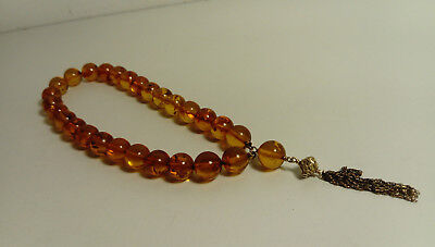Vintage Amber Worry Beads