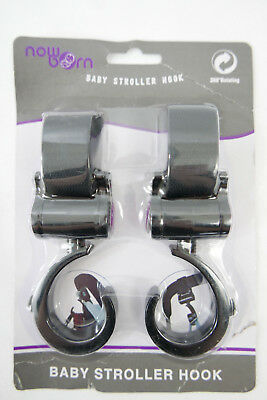 Set of 2 Baby Stroller Hooks for Bags, Purses, Water Bottles & More  Hook Straps