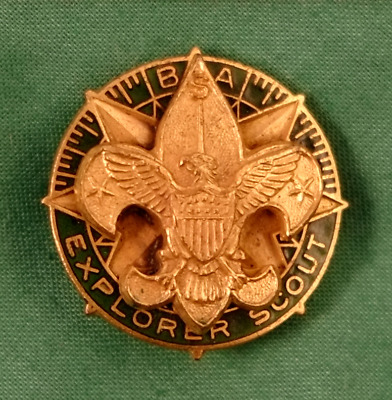 Vintage BSA Boy Scout Explorer Scout Hat Pin Badge