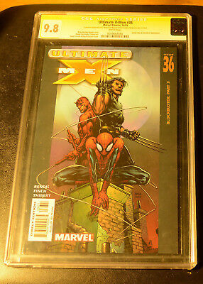 CGC SS 9.8 Ultimate X-Men#36 *White Pages*Signed by B.M.Bendis & Finch