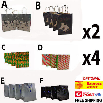 Christmas Gift Bag Printed Paper Shopping Bags Handle Ideal Party Favor Bag