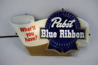 "Vintage Pabst Blue Ribbon Advertising Light Up Sign ""what'll You Have?"""