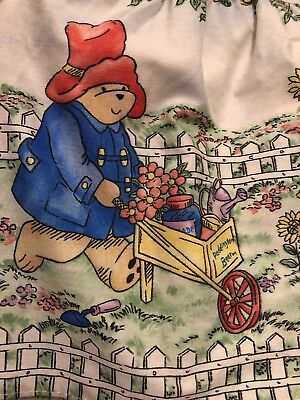 VTG 1991 Nojo Paddington Bear Crib Bed Skirt