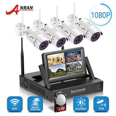 960P 8CH Wireless Security Camera System Outdoor 1TB HDD WiFi NVR Home Security