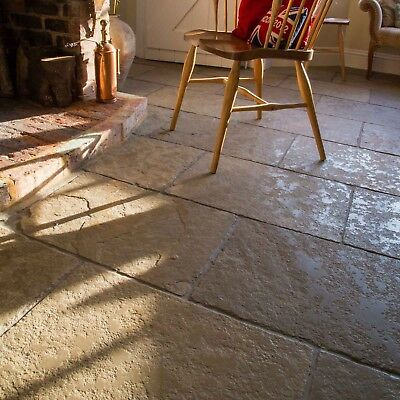 Tydale Antiqued Limestone Floor Tiles - Traditional Country Stone Flags
