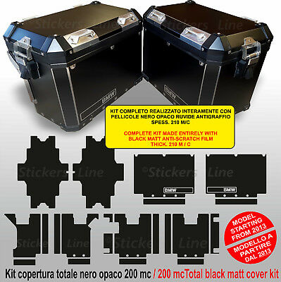 Kit adesivi valigie BMW R1200GS - R1250GS NERO ANTIGRAFFIO bags stickers da 2013