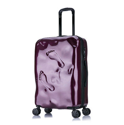D29 Purple Coded Lock Universal Wheel Travel Suitcase Luggage 24 Inches W