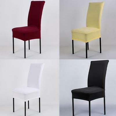 AU Elastic Cloth Dining Chair Cover Hotel Office Wedding Party Room Seat Decor