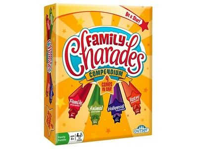Outset Family Charades Compendium 4 Games in 1 Party Card Game