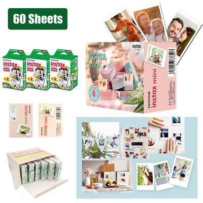 60 Sheets Fujifilm Instax Film Instant Photo Paper For Mini 9/8/7s/25/70/90
