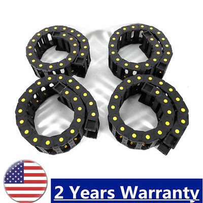 4pc Plastic Cable Drag Chain Wire Carrier f/ CNC Nylon PA66 1m Cable TOP Quality