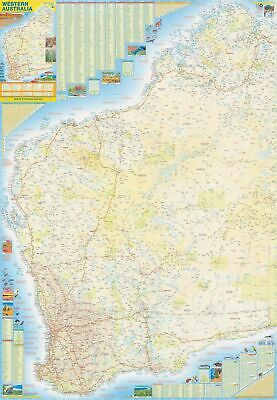 Western Australia & Southern WA Large QPA 710 x 1010mm Laminated Wall Map