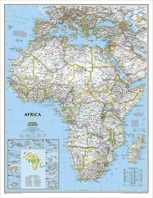 Africa NGS 610 x 780mm Laminated Wall Map