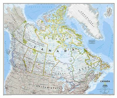 Canada NGS 970 x 800mm Laminated Wall Map