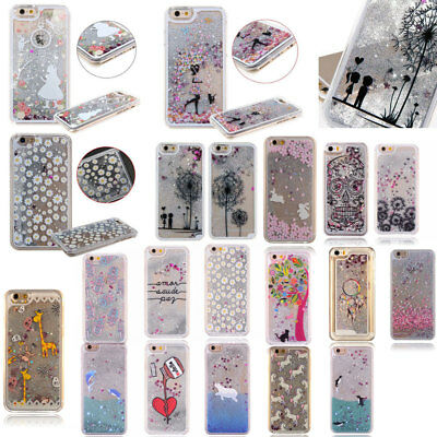 Dynamic Liquid Bling Glitter Hard Case Cover For Apple iPhone 8 8 Plus X Xs