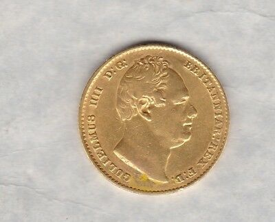 Key Date 1835 William Iv Gold Sovereign In Good Very Fine Condition
