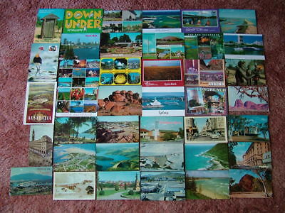 40 Used Postcards of AUSTRALIA.  No Australian stamps. Good/Used condition.