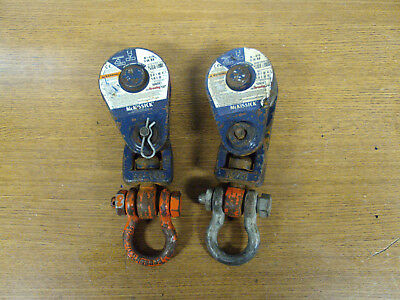 2 CROSBY McKISSICK N-419 SNATCH BLOCK PULLEYS