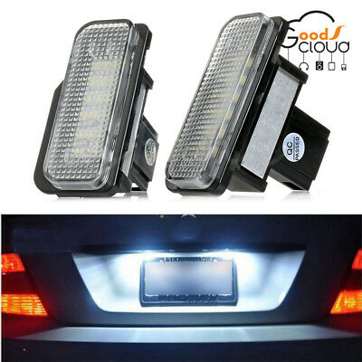 2PCS White License Plate LED Light Error Free For Mercedes Benz W203 W211/W219