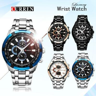 Curren Classic Mens Dress Watch Black White Military Fashion Water Resistant