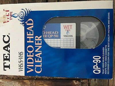 TEAC VHS/S-VHS Wet Type Video Head Cleaner QP-90