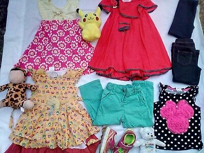 kids girls 2 3 fila shoes Toys dresses Tops pants legging jeans tights bulk lot