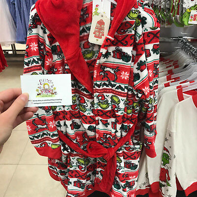 Ladies Dr Seuss The Grinch Christmas Dressing Gown Robe Primark