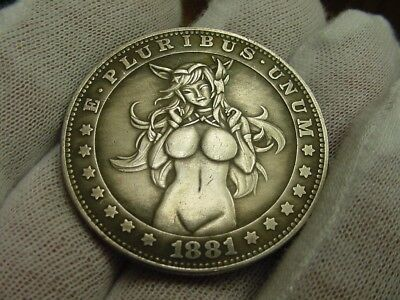 """Rare """"Series 1"""" Coin-Silver Plated Toned- Rare -Dollar Size - """"Collect Them All"""""""