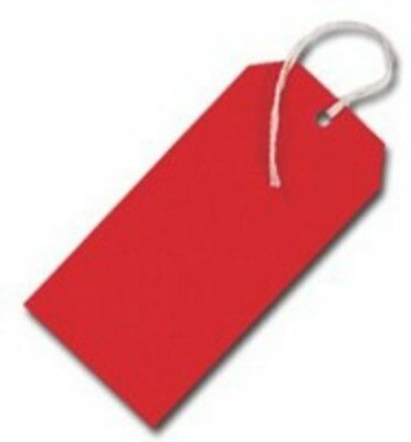Q-Connect KF01627 Strung Tags - Red (Pack of 1000)