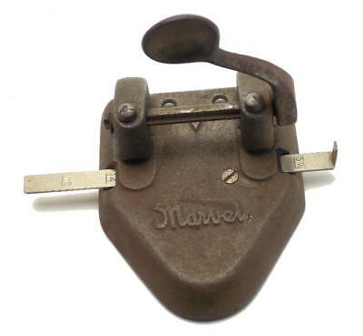 Marvel Two Hole Punch Cast Iron Made in USA Wilson Jones Co. Chicago Used