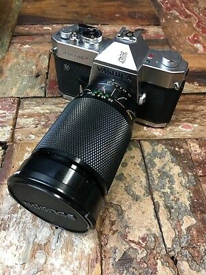 Yashica TL Electro X Film Camera AND 28-200mm Lens AND Vintage Gullmann Case