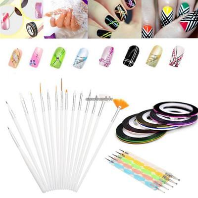 New Fashion Nail Art Dotting Painting Drawing Brush Pen Polish Tools CLSV