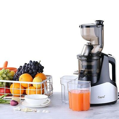 """Slow Masticating Juicer Cold Press Extractor with 3""""Wide Chute for Fruits Sliver"""