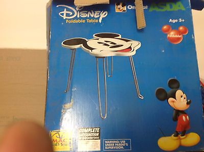 Disney Mickey Mouse foldable table never used still shrink wrapped