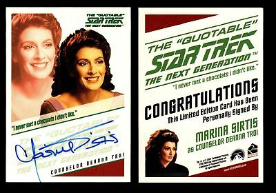 Star Trek TNG Quotable Autograph Card Marina Sirtis as Counselor Deanna Troi