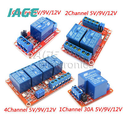 1/2/4 Kanal Relais Module Board With Optokoppler H/L Level Triger 30A 5V-24V
