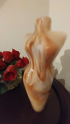 Stunning Vintage  Murano ? Vase Female Torso Foyer Bedroom Art Sculpture
