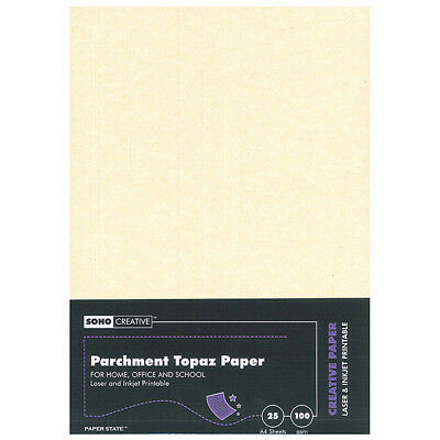 graphic regarding Parchment Paper Printable referred to as SOHO - PARCHMENT Paper A4, 100gsm, 25 sheets, Topaz