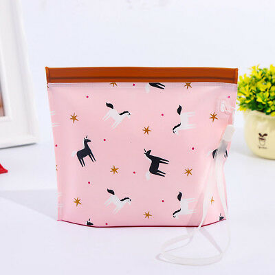Eco Friendly Bag Self-supporting Wipes Reusable Wet Wipe Pouch PVC Holder