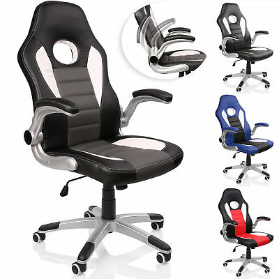 TRESKO® Office Swivel Chair 74cm High Back Large Seat Tilt Function Gaming PU