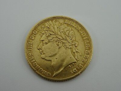 Half Sovereign 1824 Georgian George Iv 22Ct Gold Coin Shield Back 4 Grams