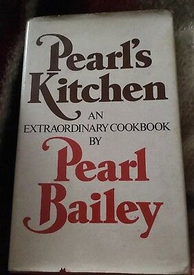 Pearl Bailey signed Pearl's Kitchen an Extraordinary Cookbook - VG+ 1973 1st. Ed