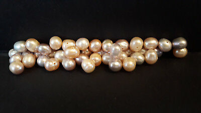 """15"""" Freshwater Pearl Beads-Pinks & Purples-8mm to 10mm-27-28g-44 Beads (A)"""